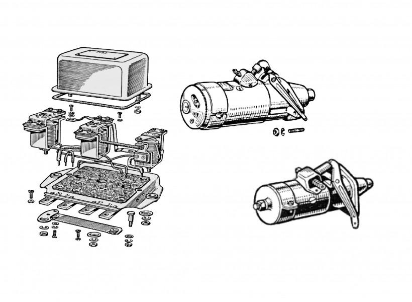 Alternator, starter motor, etc.