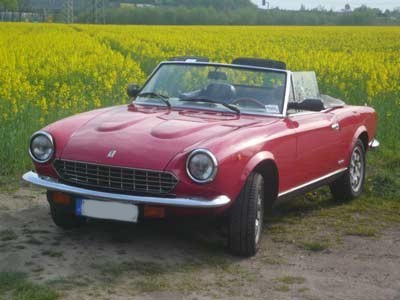 price list Fiat 124 Spider