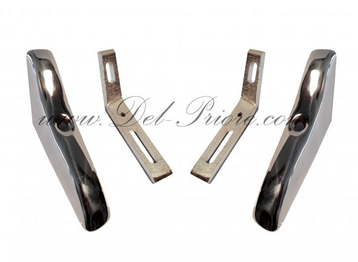 set hard top mount, chrome rear ( 4 - pieces )