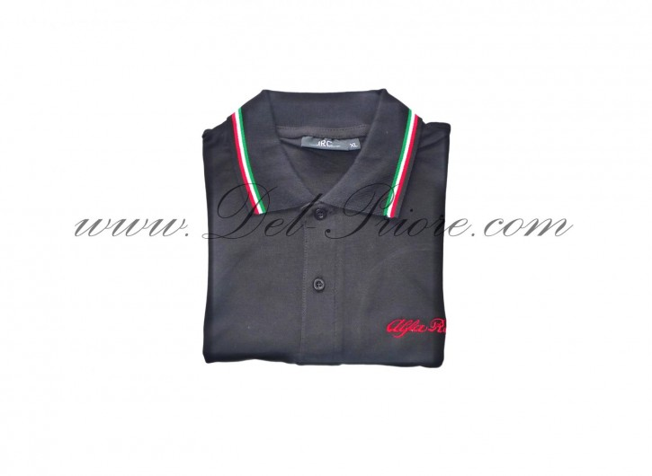 Poloshirt red or black with Alfa emblem, size M or L (indicate size)