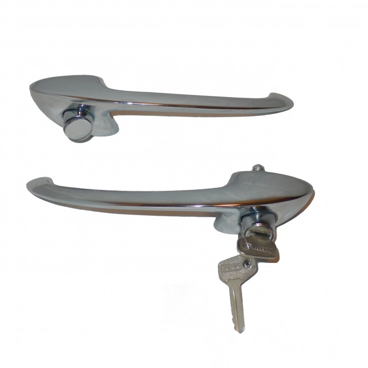 Set of door handles, with key, 101 Spider/Sprint
