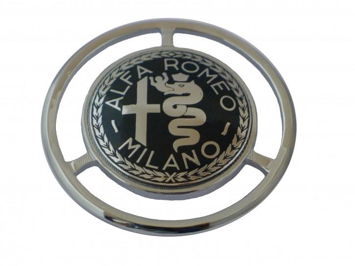 Emblem Alfa nero smaltato per cofano Baule