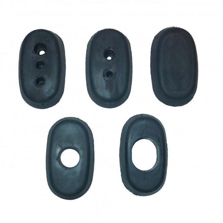 Set of feedthrough-rubbers (5 pieces) for fire wall