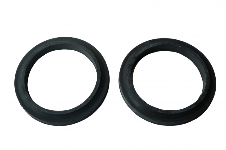 Set of lead-trough rubber for fresh air hose tank